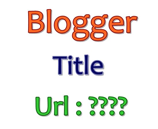 Blogger title url
